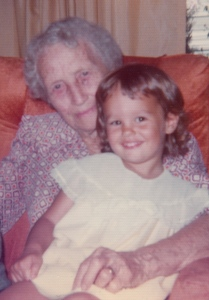 My great-grandmother and me, circa 1975