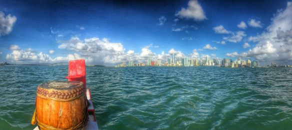 The sun may be brutal, but our practice site doesn't suck! Panoramic photo: Christianne Maigre